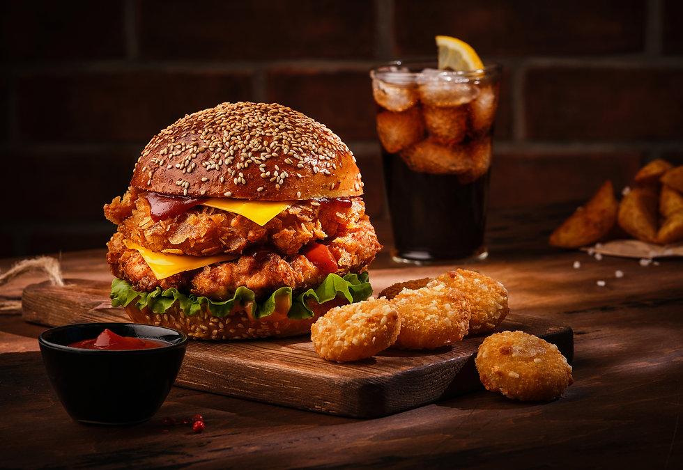 fresh-tasty-homemade-burger-wooden-table
