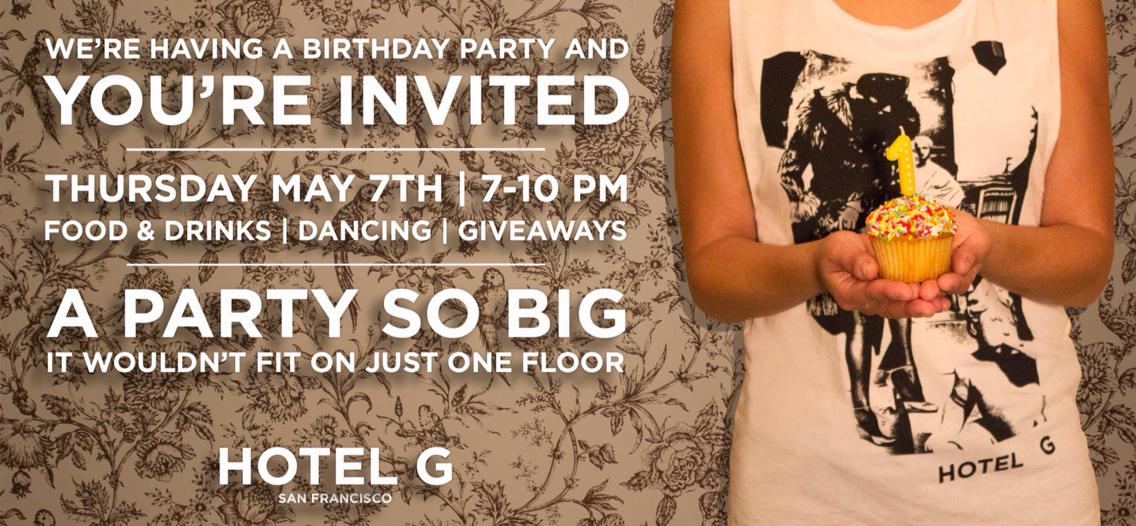 Hotel G 1st Birthday Invite