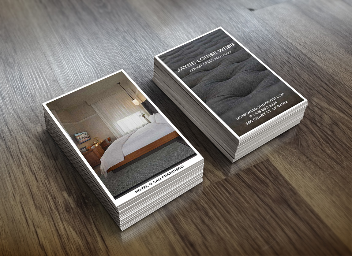 Hotel G Business Card re-design
