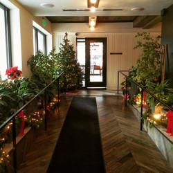 Entrance at christmas