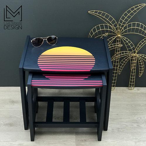 Retro Sunset Nest of Tables