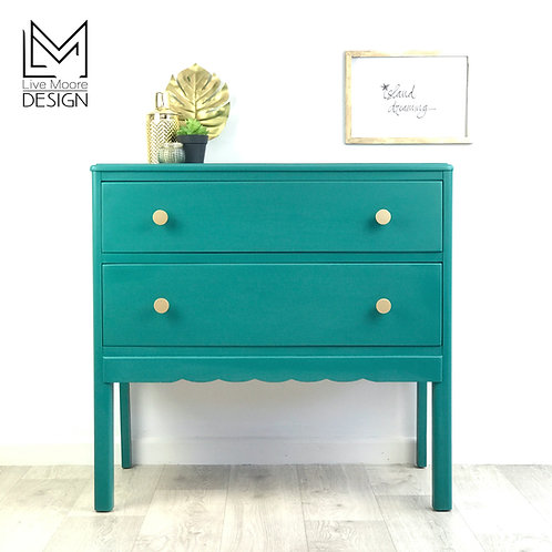 Teal Vintage Chest of Drawers