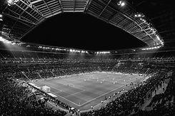 Stade de foot représentatif du droit du sport et des avocats de sportifs