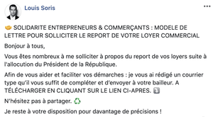 Post linkedin Louis Soris droit des societes