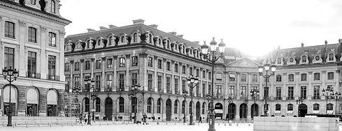 Place Vendôme à Paris, quartier d'affaires privilégié des enseignes de luxe et des startups