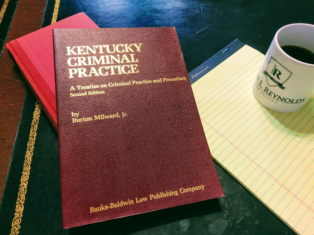 "From the library of Attorney John E. Reynolds ""Kentucky Criminal Practice"" is a must have trial aide when conduting jury trials."