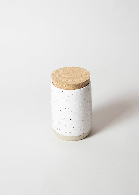 Stoneware Jar with Cork Lid