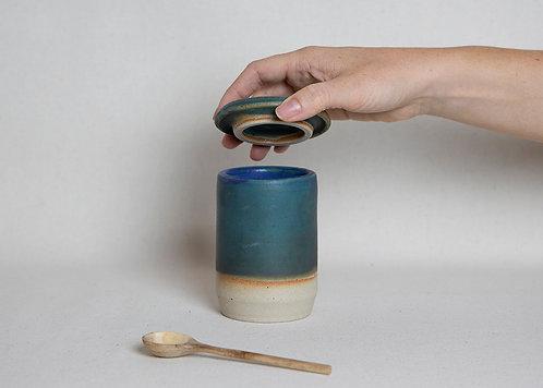 Turquoise Honey Pot