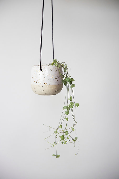 Small Speckled Hanging Plant Pot