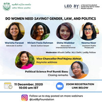 Jamia : Do women need saving? Gender, Law, and Politics
