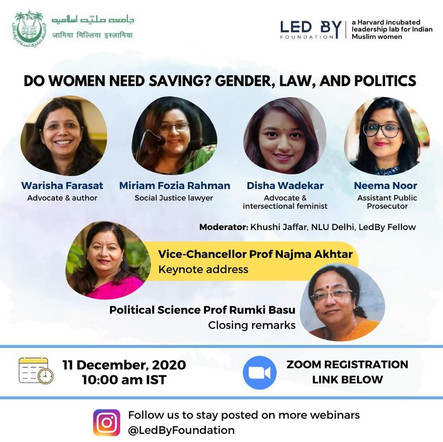 Jamia : Do women need saving? Gender, Law, and Politics