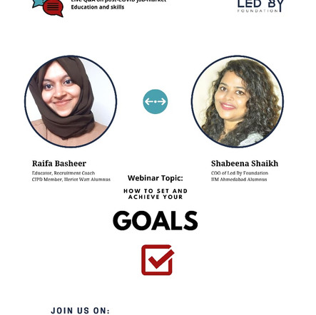 Goal Setting: with Raifa Basheer