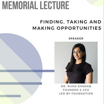 NVL Foundation Memorial Lecture