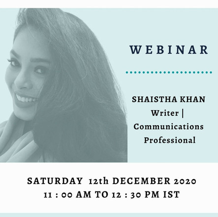 Shaista Khan: How to pitch yourself in professional spaces