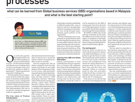 IR4.0 adoption for SME Finance and business processes: what can be learned from GBS