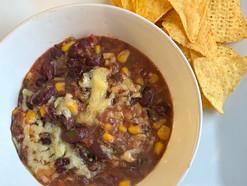 Vegan black bean chilli dip