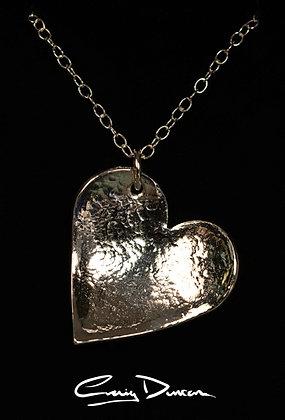 FINE SILVER LOVE HEART PENDANT