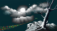Moon tree and dragon Flying.jpg