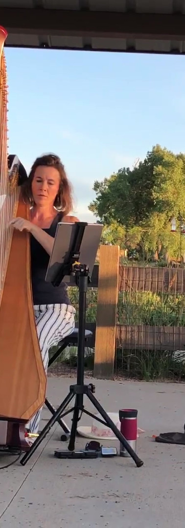 Harpist and RR Gardener Erin Newton