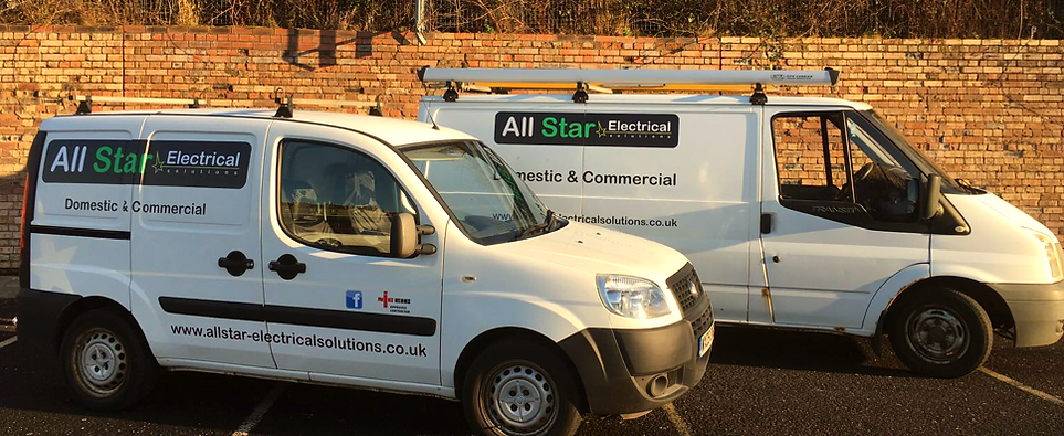 All Star Electrical Solutions company vans