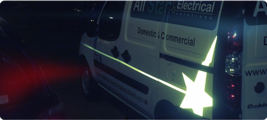 All Star Electrical Solutions company van for landlord services