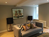 Wemyss Place Mews, Edinburgh, EH3 6DH, Living Room sofa, Full electrical re-wire by All Star Electrical Solutions Ltd