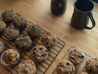 Oat & Blueberry Muffins