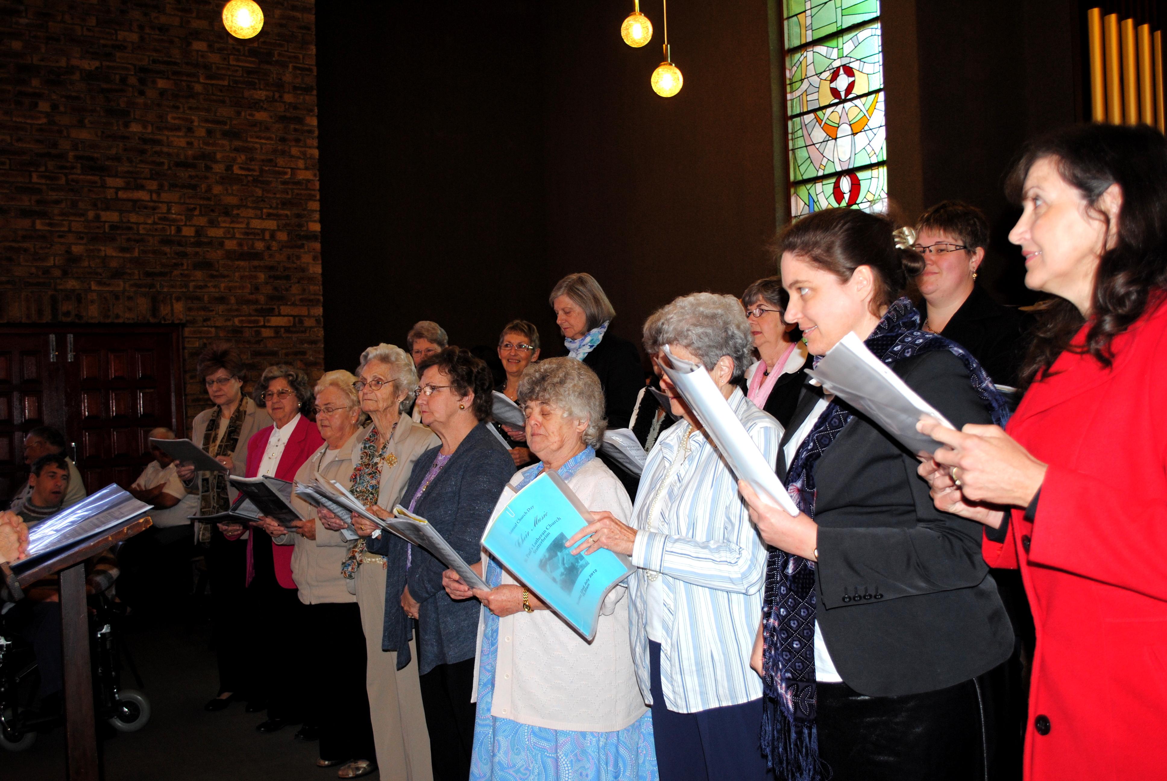 Choir at church day 2013