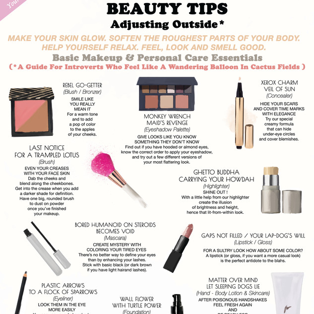 BEAUTY TIPS - Adjusting Outside