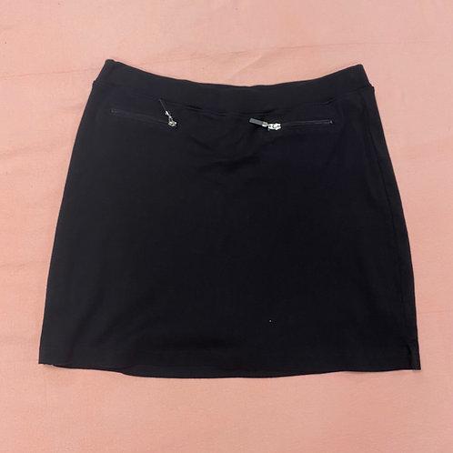 Jones New York Black Jersey Skort with Zipper Pockets (M)