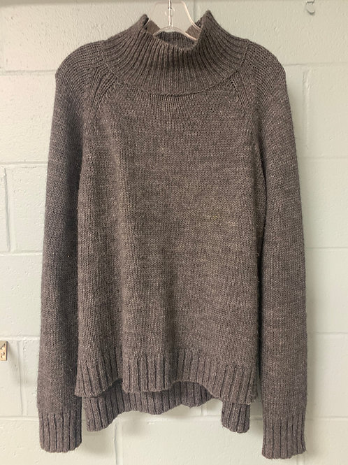 Grey Garnet Hill Turtleneck Sweater (L)