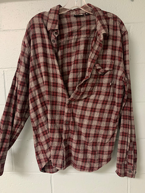 Red and Grey VANS Flannel Shirt (m)