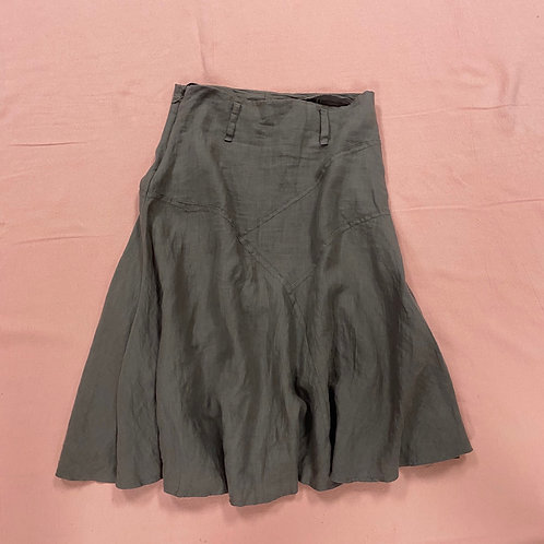 Knee Length Dark Taupe Skirt (s)