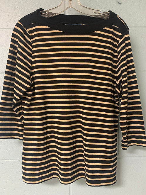 Black and White Striped Karen Scott Shirt (PL)