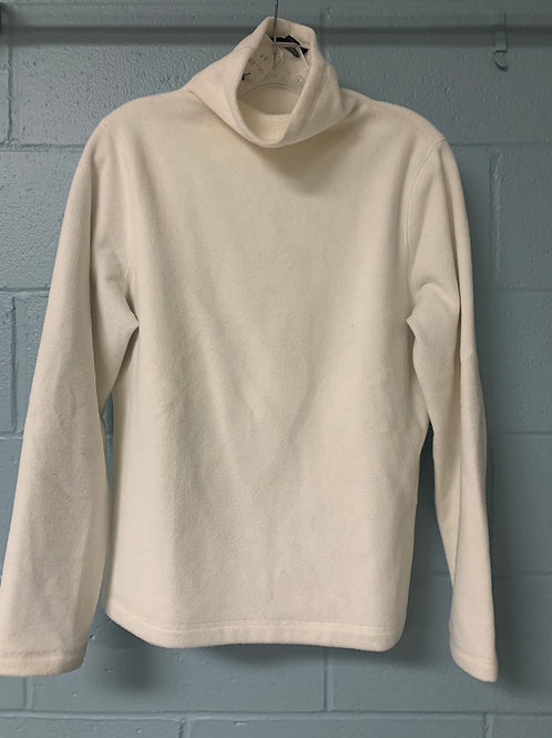 Soft White Lands' End Turtleneck Sweater (m)