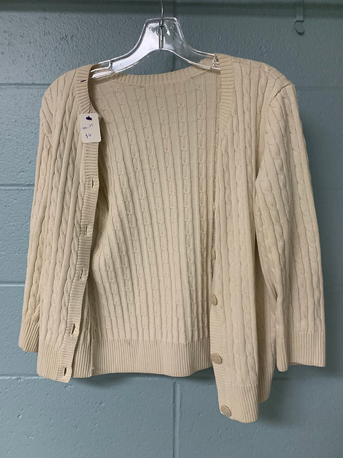 Cream Colored Knit Cardigan (m)