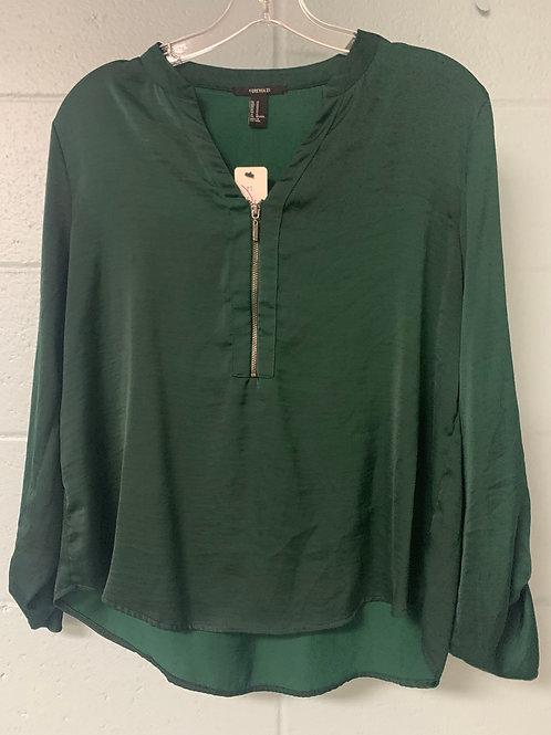 Dark Green Forever 21 Longsleeve Shirt (m)
