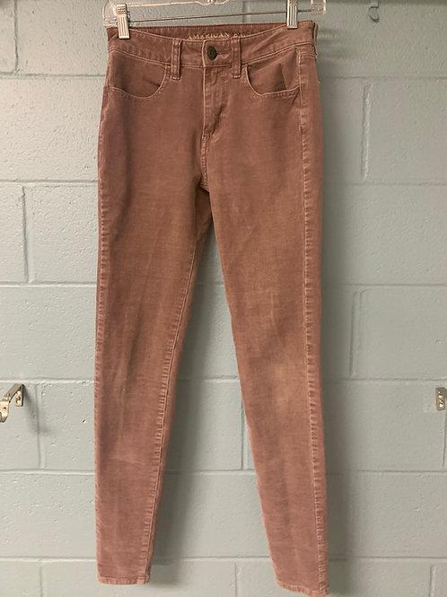 Pink American Eagle Corduroy Pants (0)
