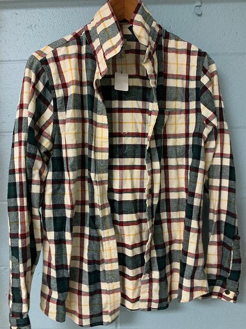 Green/White/Maroon L.L. Bean Flannel (s)