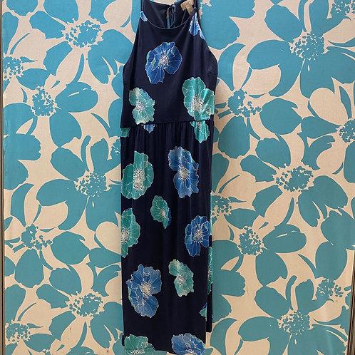 Loft Blue Floral Dress (L)