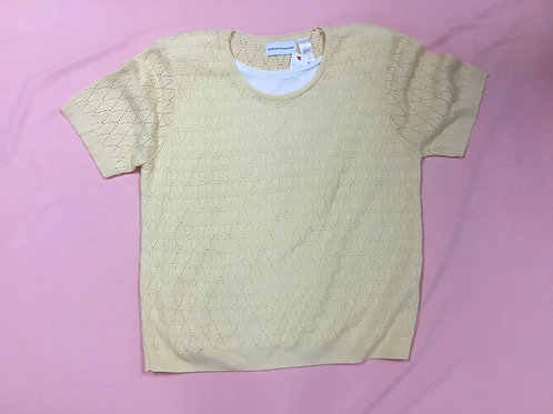 Alfred Dunner Yellow Sweater (L)