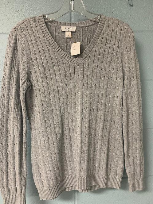 Light Grey LOFT Vneck Sweater (mp)
