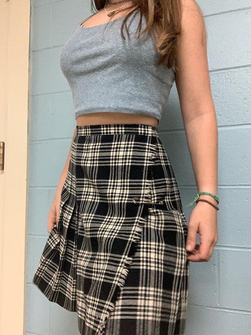 Black and White Plaid David Brooks Skirt (6)