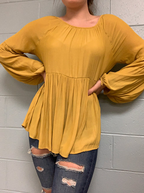 Forever 21 Yellow Blouse (S)