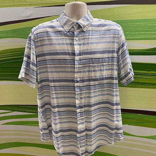 Striped Button-up Dress Shirt