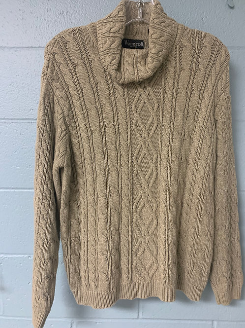 Light Brown Wainscott Turtleneck Sweater (m)