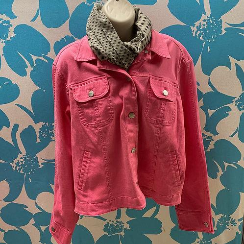 Eva-Picone Pink Denim-style Jacket (XL)