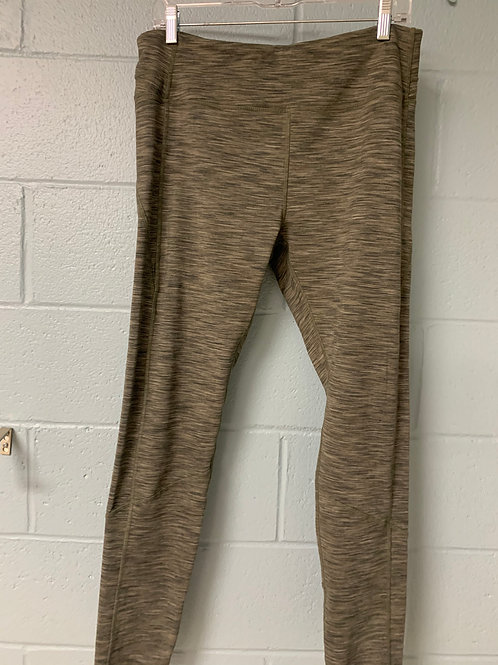 Green and Grey Heathered Kyodan Leggings (xl)