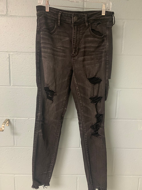 Black American Eagle Ripped Jeans (us12)
