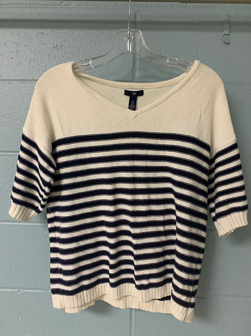 Short Sleeve Stripped Gap Sweater (s)